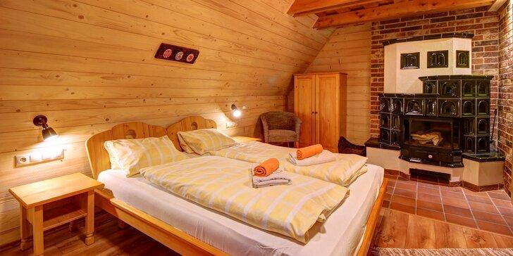 Zážitkový pobyt v tradiční dřevěnici v Malé Fatře: jídlo, sauna i adventure golf