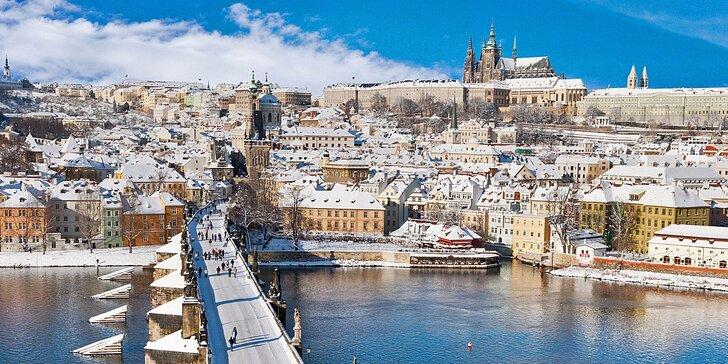 Magická zimní Praha v 3* hotelu se snídaní na Břevnově v blízkosti Hradu