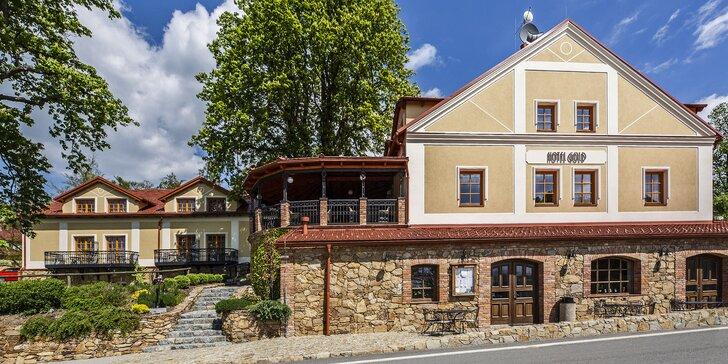 Romantika na jihu Čech: pobyt s polopenzí i masáží v oceňovaném hotelu