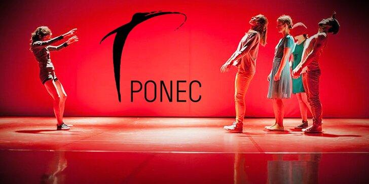 Otevřená vstupenka na taneční představení v divadle PONEC