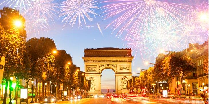 Romantický Silvestr v Paříži s noclehem v hotelu vč. snídaně a průvodce
