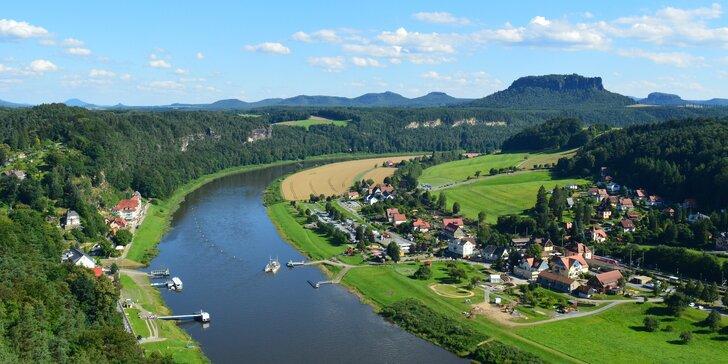 Podzimní výlet do Saského Švýcarska: Soutěskou Obere Schleuse v údolí říčky Křinice