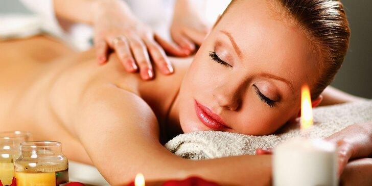 Výběr ze 3 druhů masáží: Rekondiční, konopná či masáž lávovými kameny