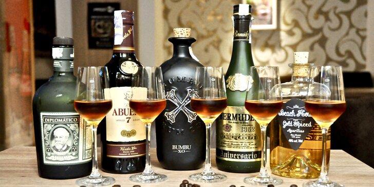 Degustace rumů z Panamy, Mauritia i Dominikánské republiky v Cafe Baru Paparazzi