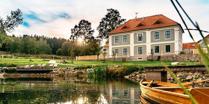 Jako na šlechtickém sídle: krásný pobyt na Lipně, snídaně a panoramatická sauna