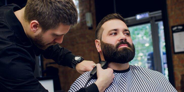Kompletní barber péče o vlasy a vousy i s možností rumové degustace