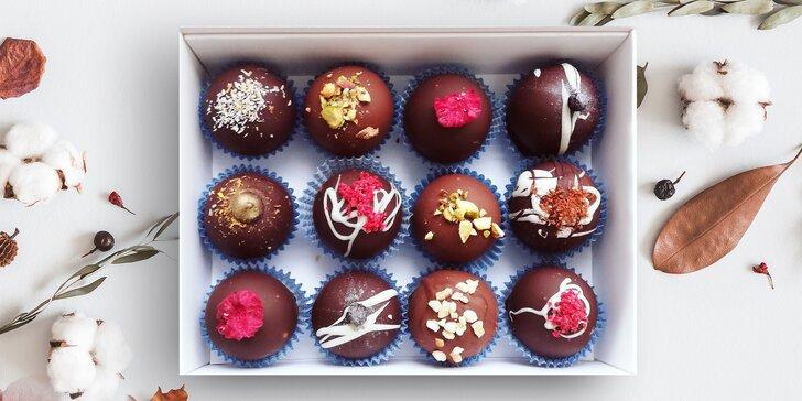 Čokoládové kuličky, které vám nedají spát: až 12 ks v dárkovém balení i slaný karamel