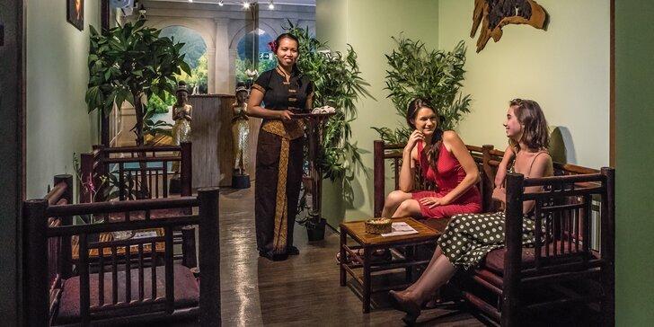 Thajská masáž a třeba i maska a lázeň ve vyhlášeném salonu Thai Sun