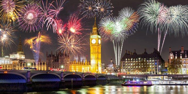 Oslavte příchod nového roku v Londýně: autobusová doprava, 1 noc v hotelu se snídaní