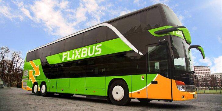 25–40% sleva na jízdenky FlixBus: linka Český Krumlov – České Budějovice – Praha i zpět