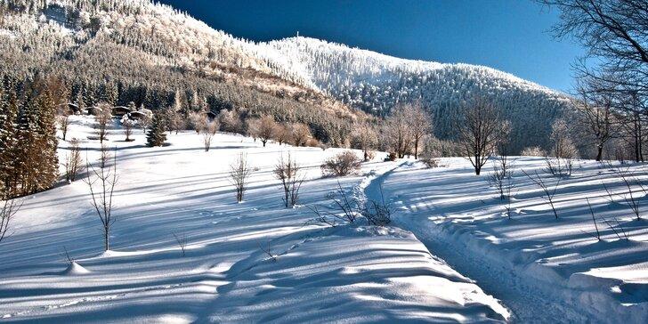 Zimní, jarní nebo letní pobyt v Beskydech s polopenzí a vstupem do bazénu s vířivkou