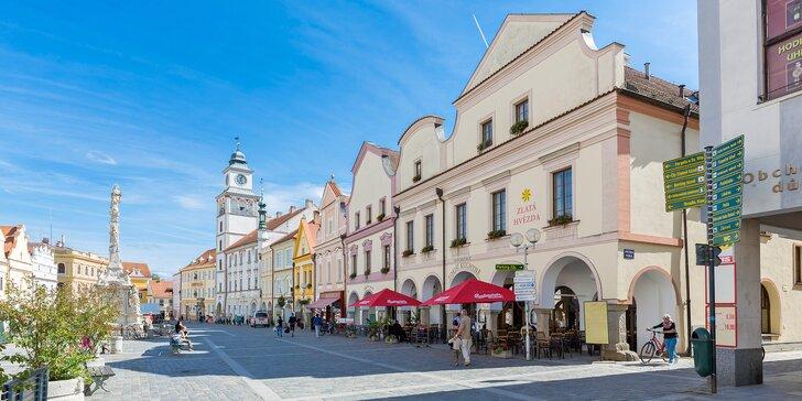 4* pobyt v Třeboni: krásný hotel přímo na náměstí, polopenze i wellness