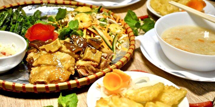 4chodové menu vietnamských specialit podle výběru pro 2 osoby