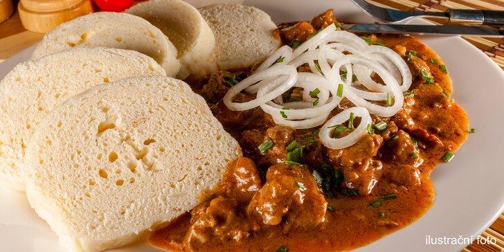 Polední menu v restauraci Flora: polévka, hlavní jídlo i dezert a káva dle výběru