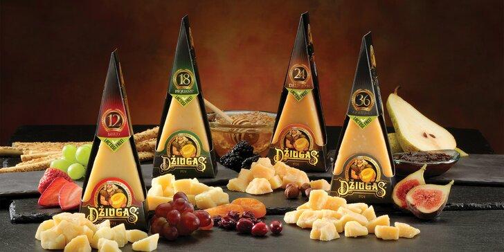 Luxusní litevské sýry Džiugas bez laktózy zrající 1-3 roky