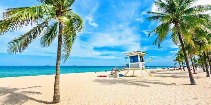 Letecký zájezd na Floridu: 5 nocí na Miami Beach, rajské klima, palmy a moře