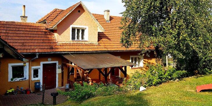 Podzimní pobyt v Beskydech: chalupa až pro 10 lidí, zahrada s posezením i posilovna