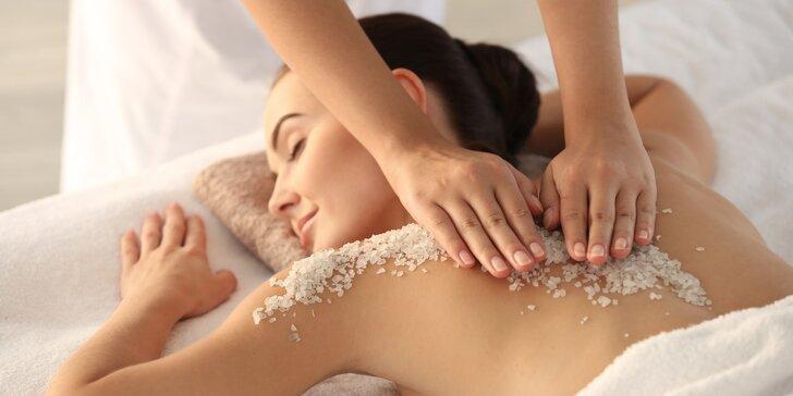 Tělový rituál Sea Wave: peeling z mořské soli, masáž těla, hlavy i obličeje