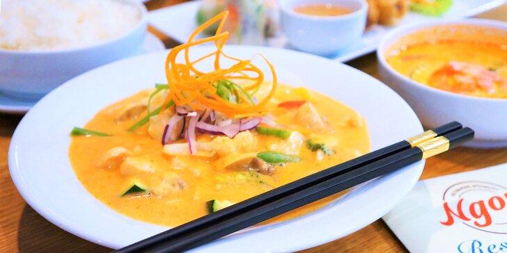 Ochutnejte vietnamské speciality: 4chodové menu plné dobrot pro 1 nebo 2 osoby