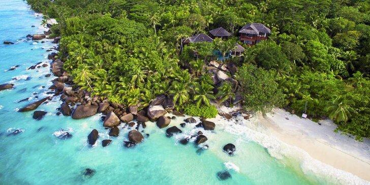 Luxusní dovolená na Seychelách: 6–10 nocí v 5* hotelu s polopenzí a lázněmi