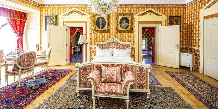 Romantický pobyt pro dva v historickém apartmánu na zámku Letovice vč. prohlídky