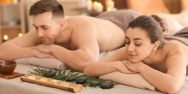 Hodinový relax pro dvě osoby: párová masáž, výběr ze 6 druhů