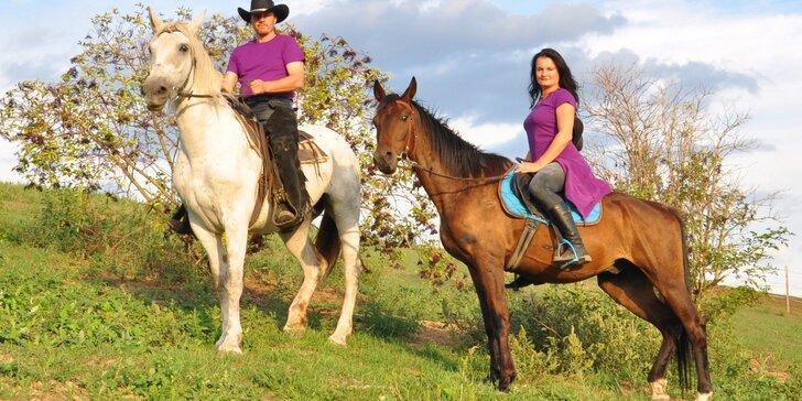 Vyjížďka na koni v Moravském krasu či jízda kočárem lokalitou dle výběru