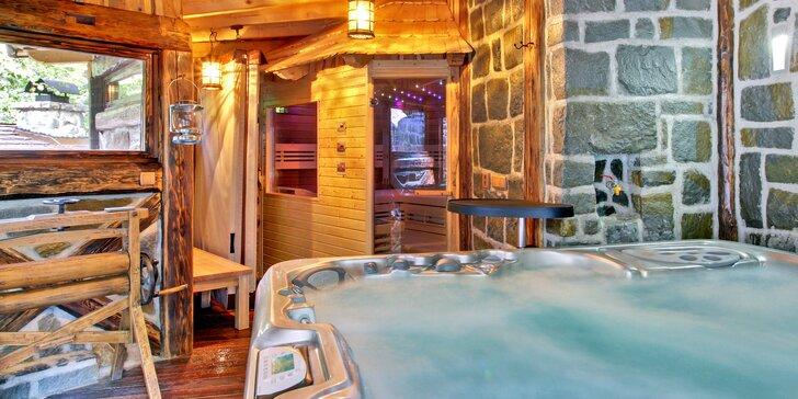 Odpočinek v Beskydech: 5 dní v luxusní wellness chatě pro 10 osob vč. dětí