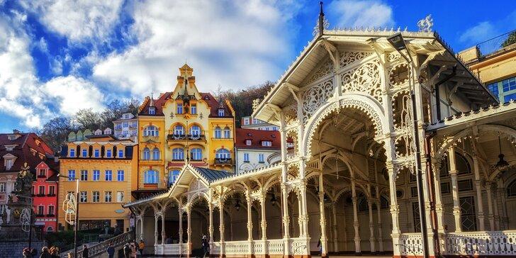 Romantika ve 4* hotelu v Karlových Varech s polopenzí, masáží a whirlpoolem