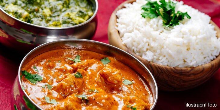 Skvělá indická hostina: 3chodové menu podle výběru pro 2 osoby