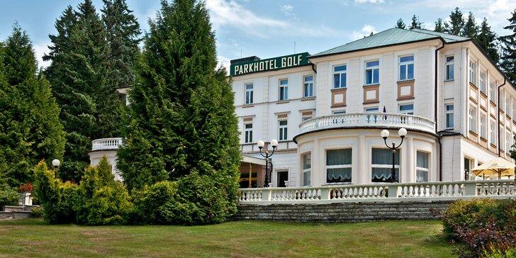 Relax ve 4* hotelu v Mariánských Lázních s polopenzí i procedurami a golfem