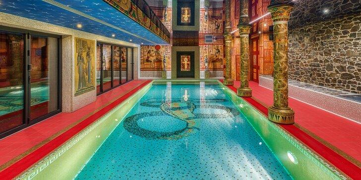 Antické lázně s privátní saunou pro 2 osoby vč. vstupu do slaného bazénu