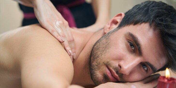 Relaxace pro muže: thajská masáž, aroma lázeň nohou a vychlazené pivo