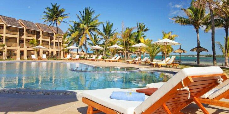 4* resort na Mauriciu: 6–12 nocí, all inclusive, velký bazén, přímo na pláži