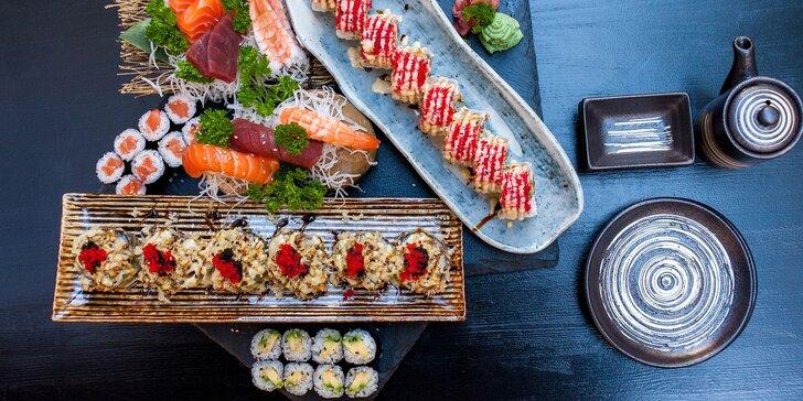 Otevřený voucher na 500 i 1000 Kč na jakékoliv sushi a nápoje v restauraci Ikura