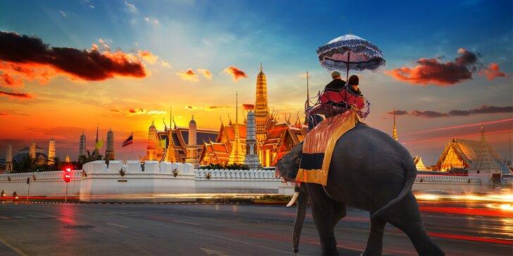 Poznávací zájezd do Thajska: letenka, 14 nocí se snídaní, český průvodce