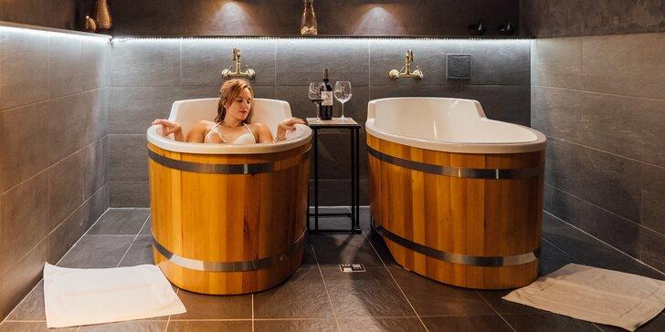 4* wellness v Táboře: rašelinová lázeň, finská sauna a lahev vína pro 2 osoby