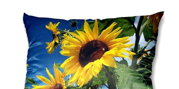 Foto polštář se slunečnicí