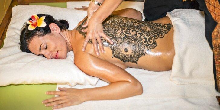 30–60minutová thajská masáž podle výběru i infrasauna