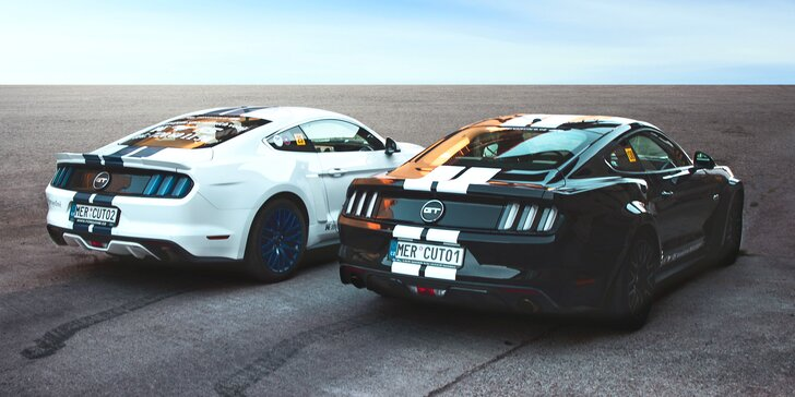 Unikátní zážitek: jízda ve vytuněném Fordu Mustang GT bez intsruktora i se spolujezdcem zdarma