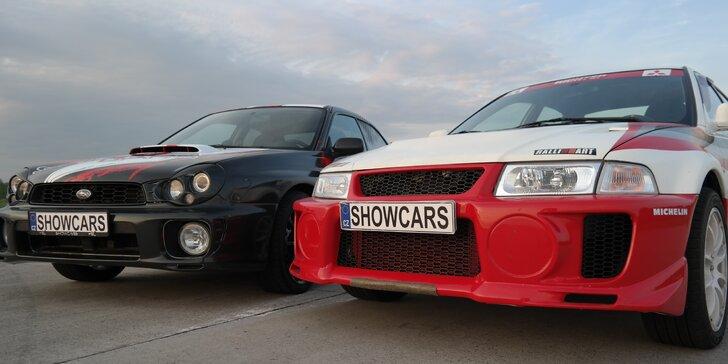 Rozjeďte to na Polygonu Brno: 6 nebo 12 kol v Mitsubishi Lancer a Subaru Impreza