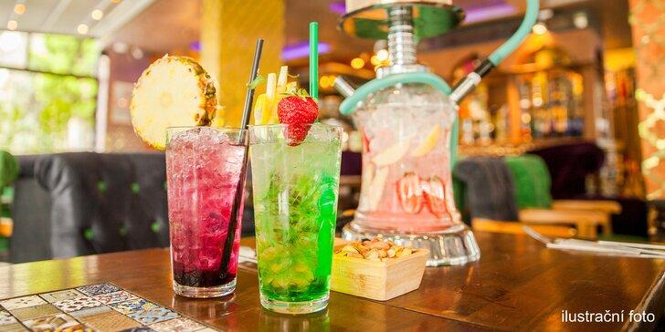 Drinky nebo párty kýbl pro 2 i pro partu a vodní dýmka s ovocem