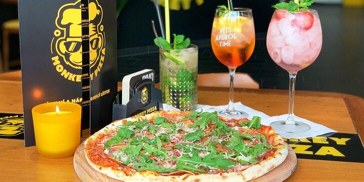 Pardubická Itálie: jedna nebo dvě pizzy podle výběru z patnácti druhů i s láhví vína