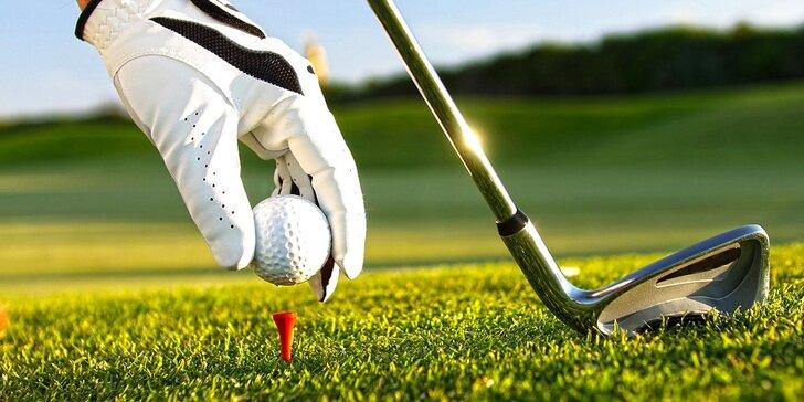 Staňte se na den golfistou: trénink i opravdová hra s trenérem