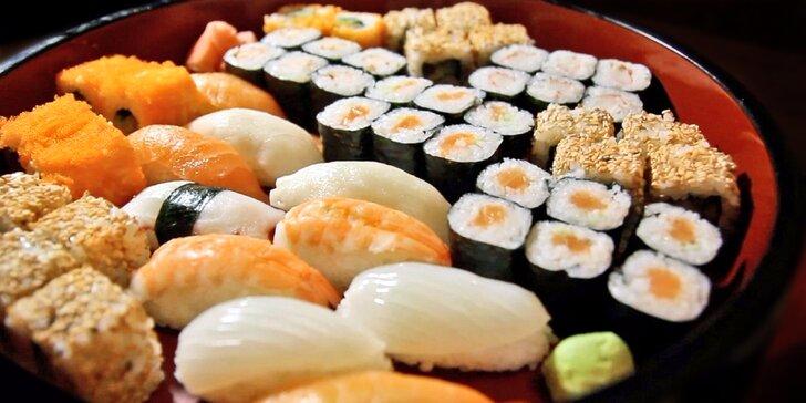 Ochutnejte kouzla Asie: až 72 kousků sushi, plněné taštičky Gunmandu a polévky