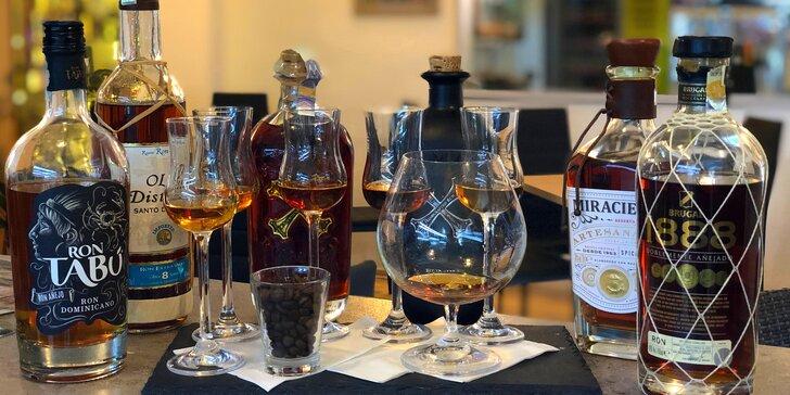 Degustace karibských rumů: 6 vzorků pro jednoho, dva i partu