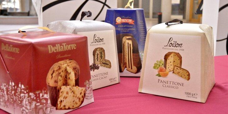 1 balení italské vánoční bábovky Panettone na výběr několik druhů