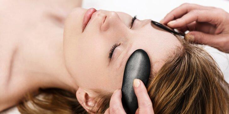 Liftingová masáž obličeje a dekoltu: lymfatická i lávovými kameny