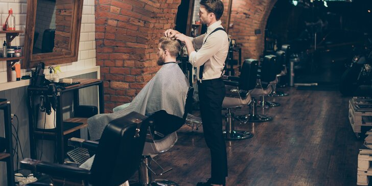 Pánský střih s úpravou vousů nebo i kompletní balíčky s kosmetickým ošetřením