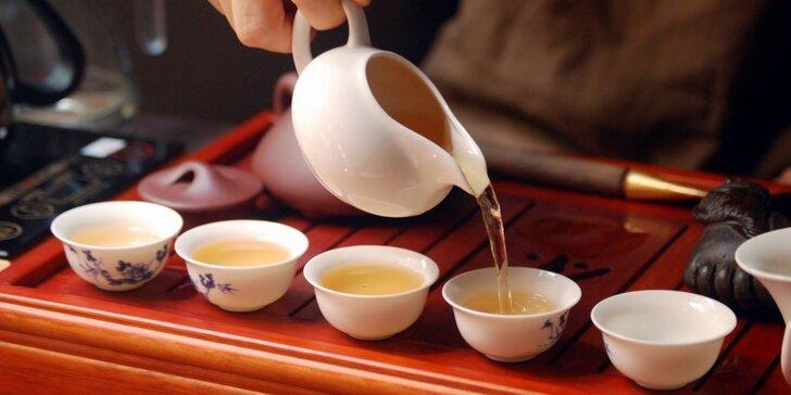 Příjemné posezení pro 2 u litru čaje dle výběru a čínské sušenky
